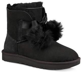 UGG Women's Gita Sheepskin & Fur Pom-Pom Booties