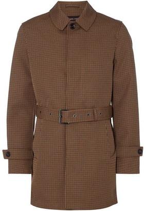 Michael Kors Houndstooth Check Bonded Overcoat