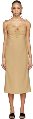 Maryam Nassir Zadeh Beige Wool Serpentine Dress