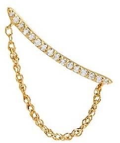 Celara 14K Yellow Gold & Diamond Single Chain Crawler (Right)
