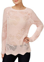 I.N.C International Concepts Pointelle Long Sleeve Sweater
