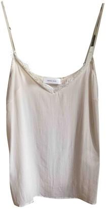 Anine Bing Spring Summer 2020 Beige Silk Top for Women