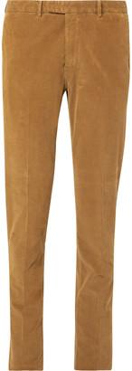 Boglioli Tan Slim-Fit Stretch-Cotton Corduroy Suit Trousers