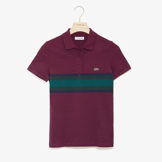 Lacoste Women's Color Block Stripe Polo