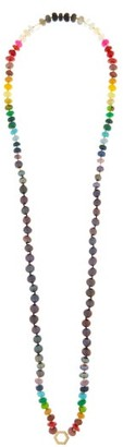 Harwell Godfrey Pearl & 18kt Gold Beaded Foundation Necklace - Blue Multi