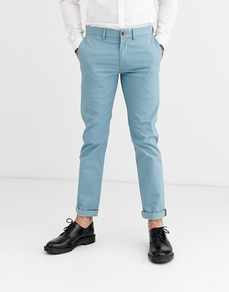 Ben Sherman slim fit stretch chino trousers-Blue