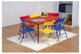Safety 1st Safety First 7 Piece Children's Juvenile Set with Pinch Free Folding Chairs and Screw In Leg Table - Red - Cosco
