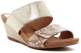 Sofft Vangie Satin Snake-Embossed Wedge Sandal