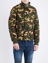 Balmain Camouflage-print padded cotton jacket
