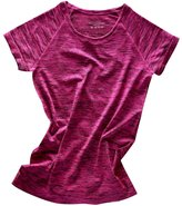 Generic Soft Round Neck Short Sleeveelange T-Shirt Gy Yoga Tees Sports Tops for Woen