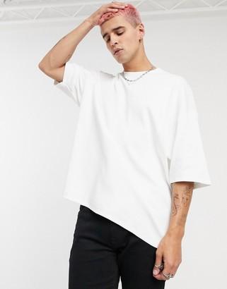 ASOS DESIGN relaxed rib t-shirt in white
