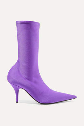Balenciaga Knife Spandex Sock Boots - Purple