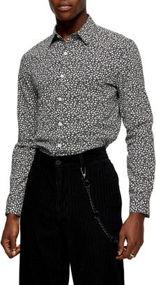 Topman Floral Button-Up Shirt