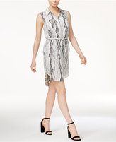 Bar III Printed Sash Shirtdress, Created for Macy's