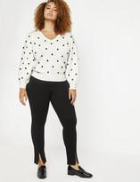ELOQUII Miracle Flawless Split Front Zipper Leggings