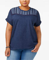 Style&Co. Style & Co Plus Size Embroidered Sweatshirt, Created for Macy's