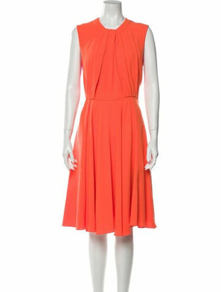 Roksanda Crew Neck Midi Length Dress Orange
