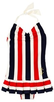Juicy Couture Port Stripe Halter Swimdress