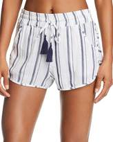 Lucky Brand Stripe Dolphin Shorts Swim Cover-Up