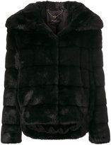 Twin-Set furry detail coat