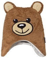 Moschino Kid-Teen Fluffy Bear Face Trapper Hat