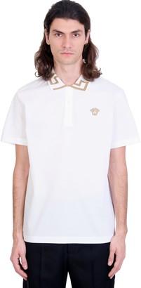 Versace Polo In White Cotton