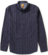 HUGO BOSS BOSS Orange Edipoe Stripe Long-Sleeve Woven Shirt