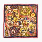 J.Crew Italian silk scarf in fall floral