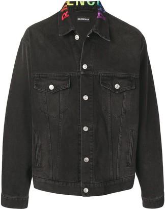 Balenciaga Logo Collar Jacket