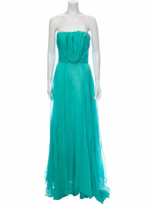 Oscar de la Renta Strapless Long Dress w/ Tags Green