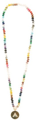 Harwell Godfrey Diamond, Tiger Eye & 18kt Gold Beaded Necklace - Blue Multi
