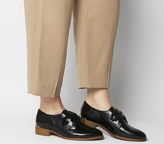 Office Fizzy Bow Loafers Black Leather
