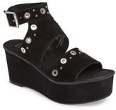 Topshop Women's Wizz Grommeted Platform Wedge Sandal