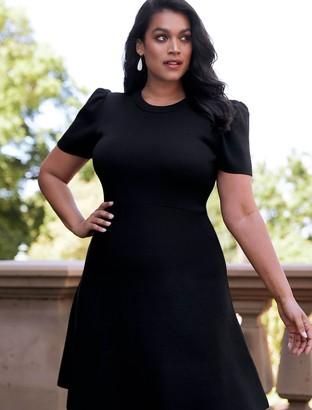 Forever New Elisa Curve Knitted Dress - Black - 20