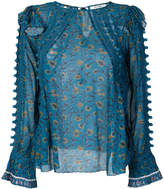 Sea pompom detail blouse