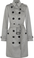 Burberry The Sandringham Cashmere Trench Coat - Gray