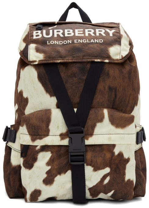 Burberry Brown and White Small Wilfin Backpack