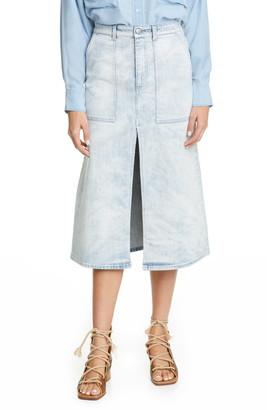 Stella McCartney Cotton Stretch Denim Skirt