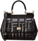 Dolce & Gabbana Sicily Mini Quilted Leather Shoulder Bag