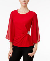 MSK Bell-Sleeve Embellished Top