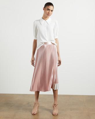 Ted Baker GLAYCIE Contrast panel pleated midi skirt
