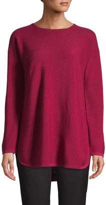 Eileen Fisher High-Low Merino Wool Tunic