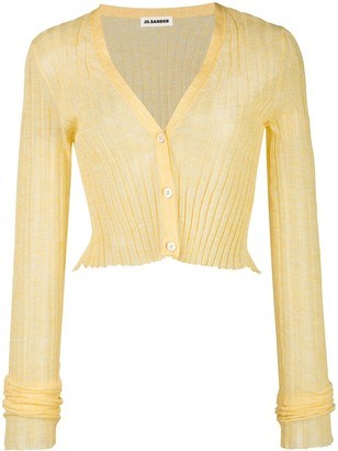 Jil Sander Semi-Sheer Cropped Cardigan
