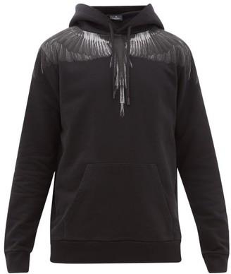 Marcelo Burlon County of Milan Wings-print Cotton-jersey Hooded Sweater - Black