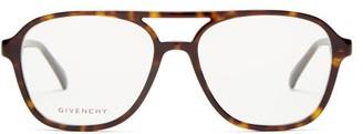 Givenchy Aviator-style Acetate Optical Glasses - Tortoiseshell