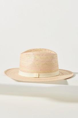 Alarnna Striped-Straw Fedora