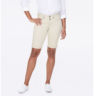 """NYDJ Briella 11"""" Shorts with Double Button Waistband"""