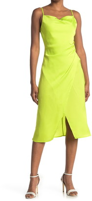 re:named apparel Lime Yellow Maddy Slip Dress