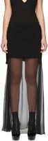 Givenchy Black Layered Chiffon Skirt
