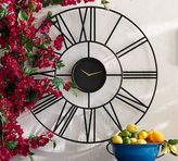 Pottery Barn Roman Numeral Outdoor Clock